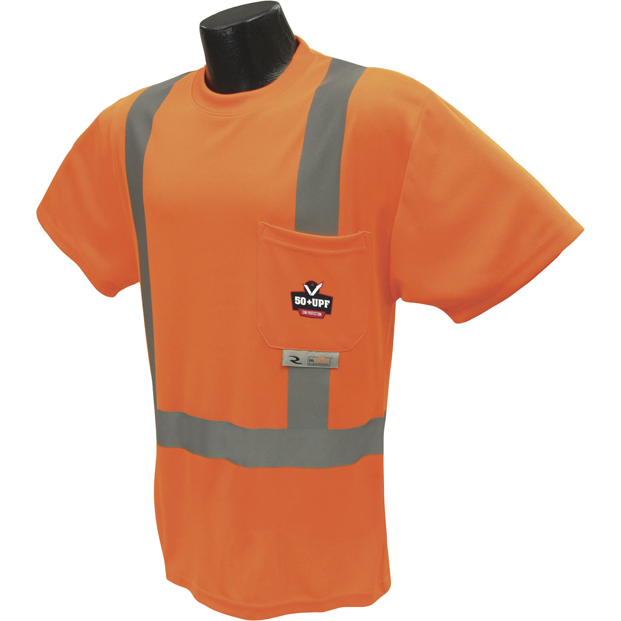 Radians radwear men 39 s class 2 high visibility short sleeve for Uv protection t shirt