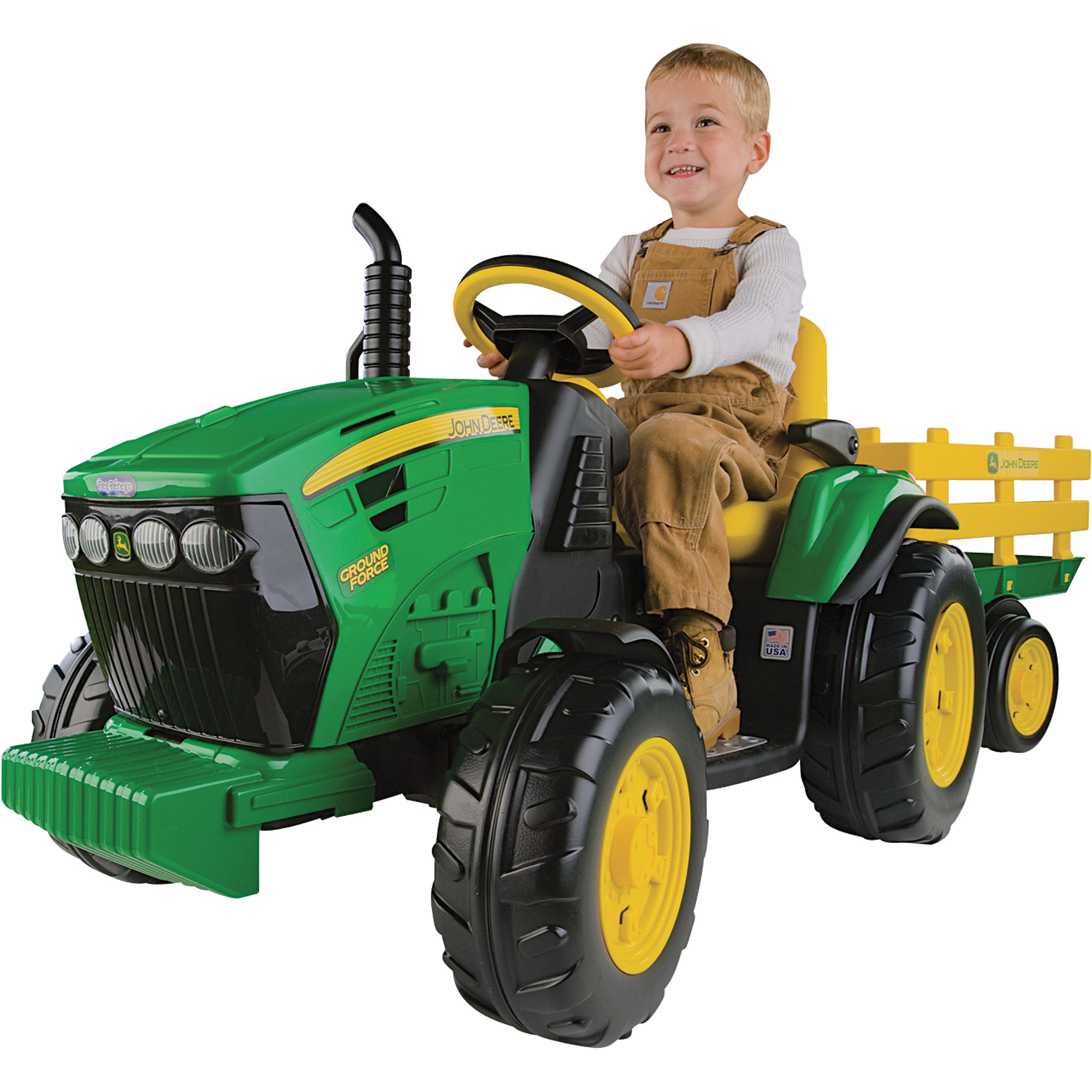 Peg Perego 12 Volt John Deere Ground Force Tractor With