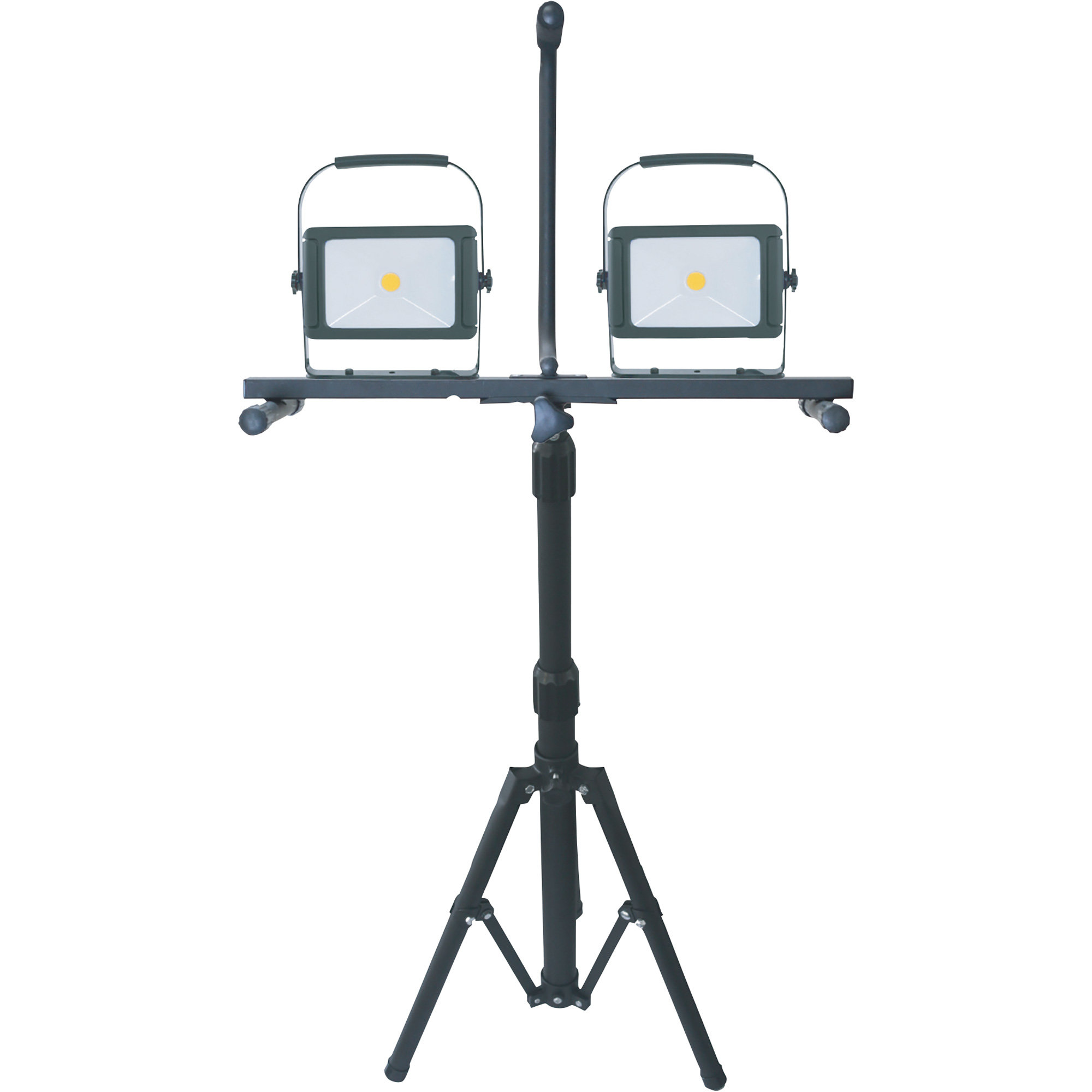 Stonepoint Led Dual Head Portable Work Light With Adjule Tripod 10 000 Lumens Model