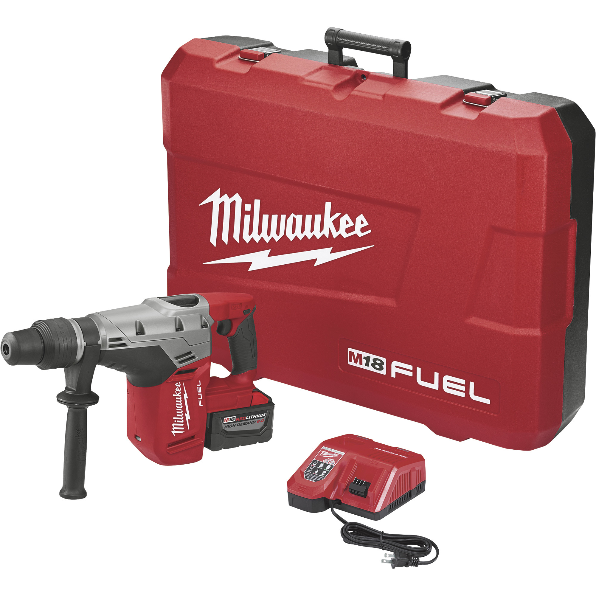 Milwaukee M18 Fuel 1 9/16in  SDS Max Hammer Drill Kit — With 1 Battery, 18  Volt, Model# 2717-21HD
