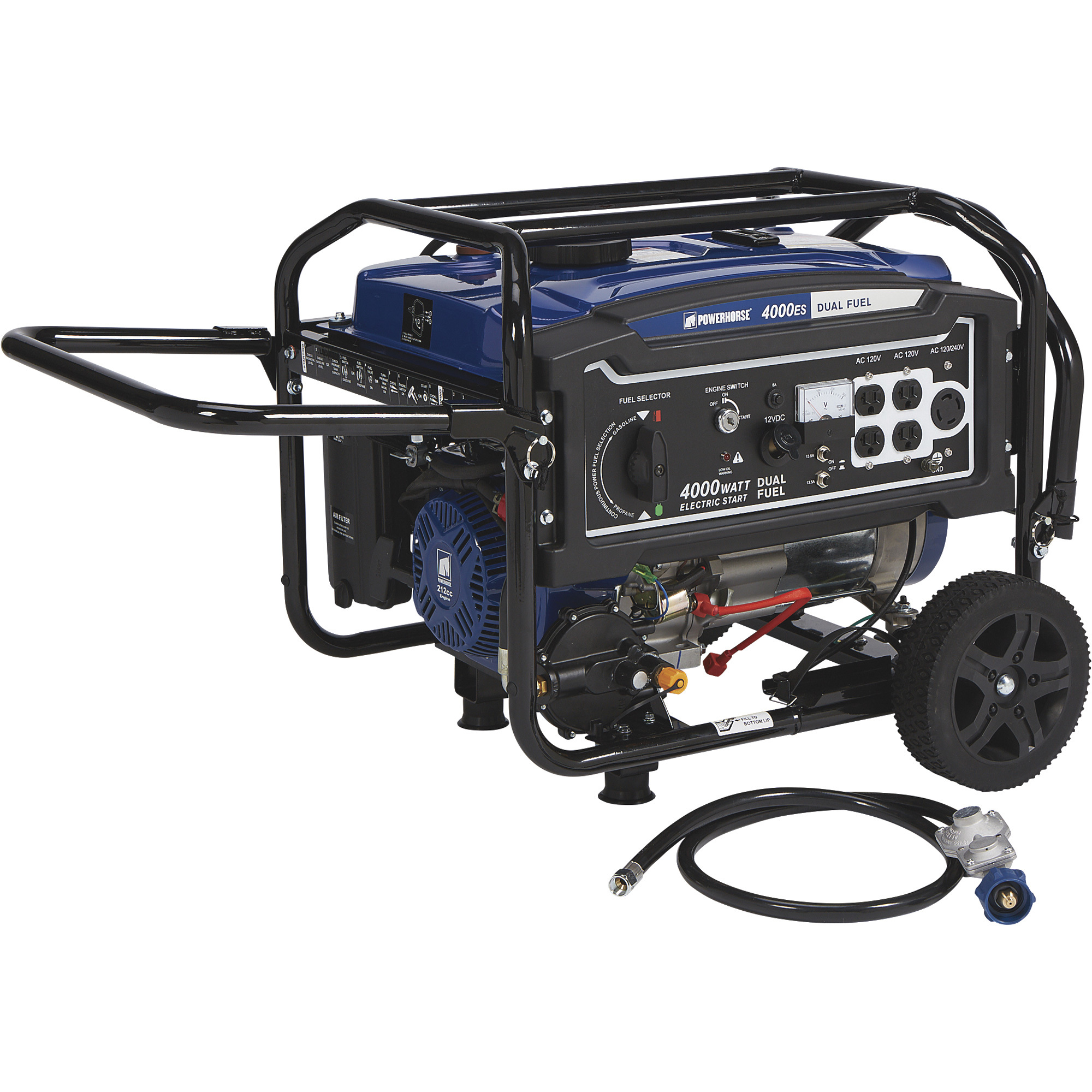 ca792a52f3 Powerhorse Dual Fuel Generator with Electric Start — 4000 Surge Watts