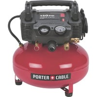 Porter Cable Portable Electric Pancake Air Compressor Kit — 0.8 HP, 6-Gallon, 2.6 CFM, Model# C2002-WK