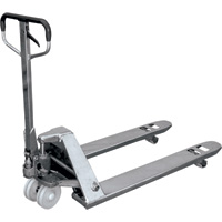 Atlas Stainless Steel Pallet Truck — 5,500-Lb. Capacity, Model# 27X48EZVNNSS