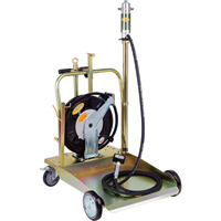 Northern Industrial Tools 5:1 Mobile Oil Pump Kit — 115 PSI, Hose, Digital Valve, Trolley