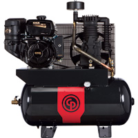 FREE SHIPPING — Chicago Pneumatic Gas-Powered Air Compressor — 12 HP, 30 Gallon, Model# RCP1230G