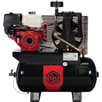 FREE SHIPPING — Chicago Pneumatic Gas-Powered Air Compressor — 13 HP, 30 Gallon, Model# RCP1330G