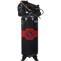 FREE SHIPPING — Chicago Pneumatic Reciprocating Air Compressor — 3.5 HP, 60 Gallon, 208/230 Volt, 1-Phase, Model# 8090254049