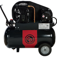 FREE SHIPPING — Chicago Pneumatic Portable Electric Air Compressor — 2 HP, 20 Gallon Horizontal, 7.6 CFM, Model# 8090254197