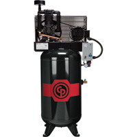 FREE SHIPPING — Chicago Pneumatic Reciprocating Air Compressor — 5 HP, 80 Gallon, 208/230 Volt, 1-Phase, Model# RCP381VS