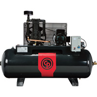 FREE SHIPPING — Chicago Pneumatic Reciprocating Air Compressor — 5 HP, 80 Gallon, 208/230 Volt, 1-Phase, Model# RCP381HS