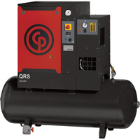 FREE SHIPPING — Chicago Pneumatic Quiet Rotary Screw Air Compressor with Dryer — 7.5 HP, 230 Volts, 1 Phase, Model# QRS7.5HPD-1
