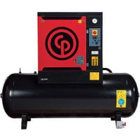 FREE SHIPPING — Chicago Pneumatic Quiet Rotary Screw Air Compressor, Model# QRS10HP-125