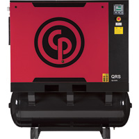 FREE SHIPPING — Chicago Pneumatic Quiet Rotary Screw Air Compressor with Dryer — Model# QRS25HPD