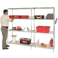 Quantum Additional Shelf for Wire Shelving System — 60in.W x 36in.D, Model# 3660C