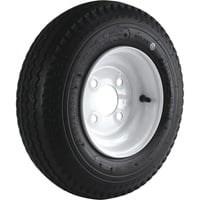 4-Hole High Speed Standard Rim Design Trailer Tire Assembly — 16.5in. x 4.80 x 8