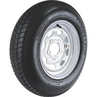 FREE SHIPPING — High-Speed Radial Trailer Tire Assembly, Spoked, ST175/80R-13
