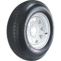 FREE SHIPPING — High Speed Radial Trailer Tire Assembly, Spoked, ST205/75R15