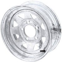 FREE SHIPPING — High Speed Replacement Trailer Wheel, ST205/75-14, Galvanized, Spoked