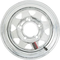High Speed Replacement Trailer Wheel, 4.80x12 & 5.30x12, 5-Hole Galvanized, Spoked