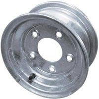 FREE SHIPPING — High Speed Replacement Trailer Wheel, ST205/75-15, 6-Hole Galvanized, Spoked
