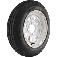 4-Hole High Speed Spoked Rim Design Trailer Tire Assembly — 20.5in. x 4.80 x 12