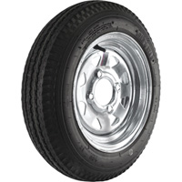 4-Hole Galvanized Wheel & Tire — 20.5 x 480 x 12