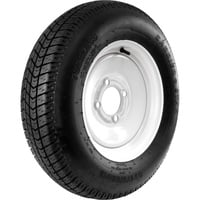 FREE SHIPPING — Carrier Star 4-Hole High Speed Standard Rim Design Trailer Tire Assembly — ST175/80D-13
