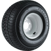 4-Hole High Speed Standard Rim Design Trailer Tire Assembly — 215/60-8