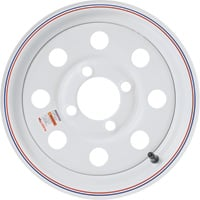 High Speed Replacement 4-Hole Trailer Wheel — 480/530 x 12