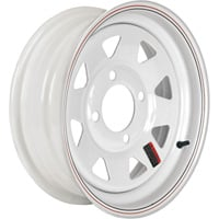 FREE SHIPPING — High Speed Replacement 4-Hole Trailer Wheel — ST175/80D-13