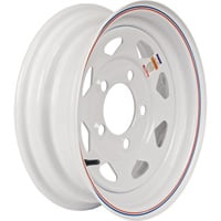 High Speed Replacement 5-Hole Trailer Wheel — 480/530 x 12