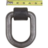 Buyers Heavy-Duty Forged D-Ring — 1in. Dia. w/ Weld-On Bracket, Model# B50