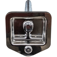 Buyers Heavy-Duty Standard Size Flush Mount T-Handle Latch with Blind Studs— Fits 3 3/4in. x 4in. recess