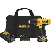 FREE SHIPPING — DEWALT Cordless Drill/Driver Kit — 12 Volt MAX Li-Ion, 3/8in. Chuck, Model# DCD710S2