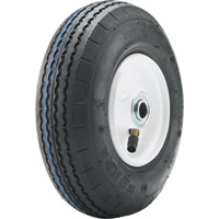 Tire and Wheel Assembly for Power Equipment — 9in. x 2.80/2.50-4, Sawtooth