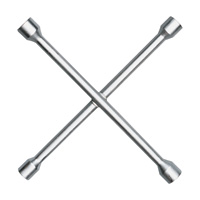 Ken-Tool Nut Busters 4-Way Lug Wrench — 14in. L, Model# 35635