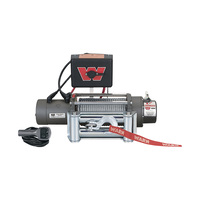WARN 12 Volt DC Powered Electric Vehicle Recovery Winch — 8000-Lb. Capacity, Galvanized Steel Rope, Model# M8000