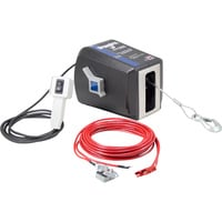 Dutton-Lainson StrongArm 12 Volt DC Powered Electric Winch with Remote — 1500-Lb. Capacity, Galvanized Aircraft Cable, Model# SA5015DC