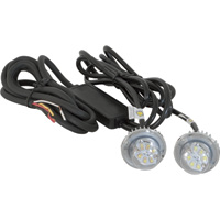 Buyers Products Hidden LED Strobe Light — 2-Pc. Set, White Light with 25ft. Cord, Model# 8891225