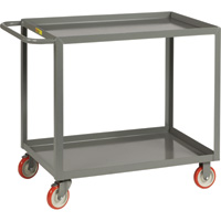 Little Giant 2-Shelf Service Cart — 1,000-Lb. Capacity, 24in.W x 36in.D, Model# LGL-2436-BRK