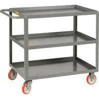 Little Giant 3-Shelf Service Cart — 1,000-Lb. Capacity, 24in.W x 36in.D, Model# 3LGL-2436-BRK