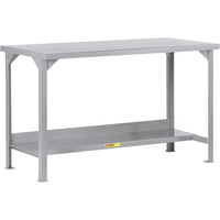 Little Giant Welded Steel Workbench — 60in.W x 30in.D x 36in.H, Model# WST2-3060-36