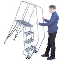 Cotterman TiltNRoll Straddle Stairs — 30in. Max Height, Model# 3STRA1