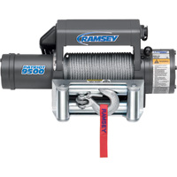 Ramsey Patriot Front-Mount 12 Volt DC Powered Electric Truck Winch — 9500-Lb. Capacity, Galvanized Aircraft Cable, Model# 109153