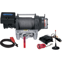 Ramsey Patriot 12 Volt DC Powered Electric Truck Winch with Wireless Remote — 15,000-Lb. Capacity, Galvanized Aircraft Cable, Model# 15000