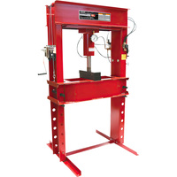 FREE SHIPPING — Arcan 100-Ton Pneumatic Shop Press with Gauge and Winch — Model# CP100