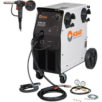 FREE SHIPPING — Hobart IronMan 230 Flux-Core/MIG Welder with Hobart DP 3545-20 20-Ft. Spool Gun — 230V, 250 Amp, Model# 500536001