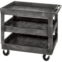 Quantum Industrial-Strength 3-Shelf Plastic Cart, Model# PC4026-33-3