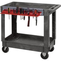 Quantum Industrial-Strength 2-Shelf Plastic Cart — Tool Holder, Model# PC4026-33TR
