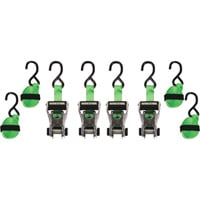 SmartStraps RatchetX Aluminum Tie-Downs — 14ft.L, 1,500-Lb. Breaking Strength, 4-Pack, Green, Model# 345